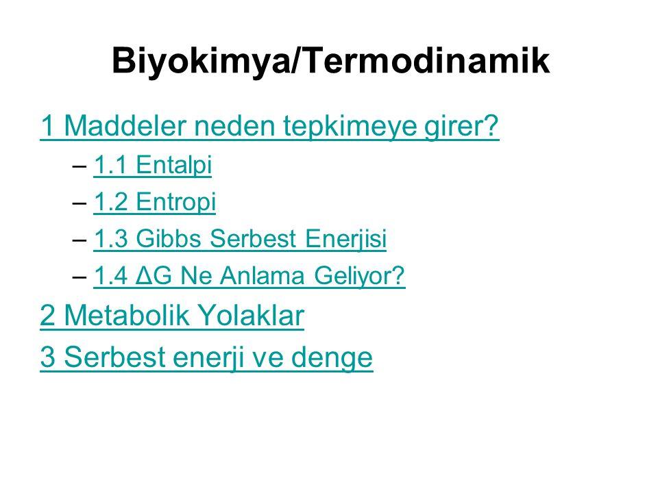 Biyokimya/Termodinamik