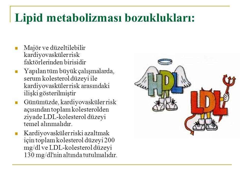 Lipid metabolizması bozuklukları:
