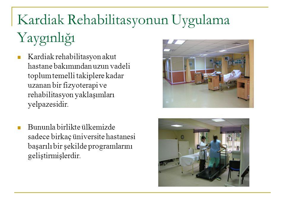 Kardiak Rehabilitasyonun Uygulama Yaygınlığı