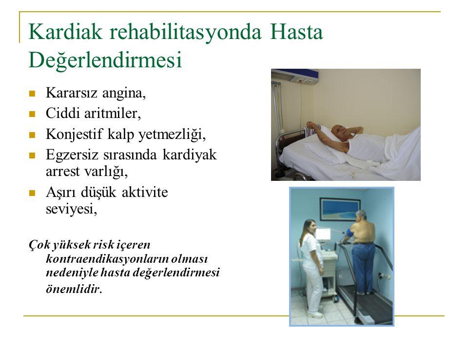 Kardiak rehabilitasyonda Hasta Değerlendirmesi