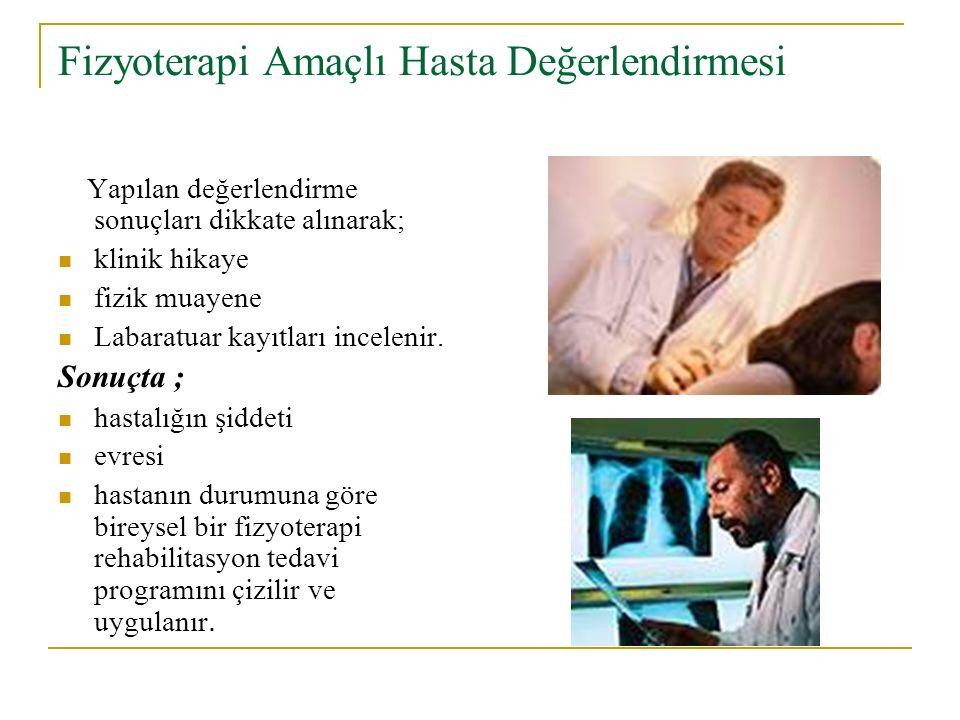 Fizyoterapi Amaçlı Hasta Değerlendirmesi