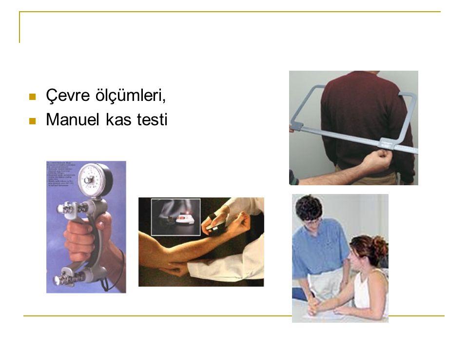 Çevre ölçümleri, Manuel kas testi