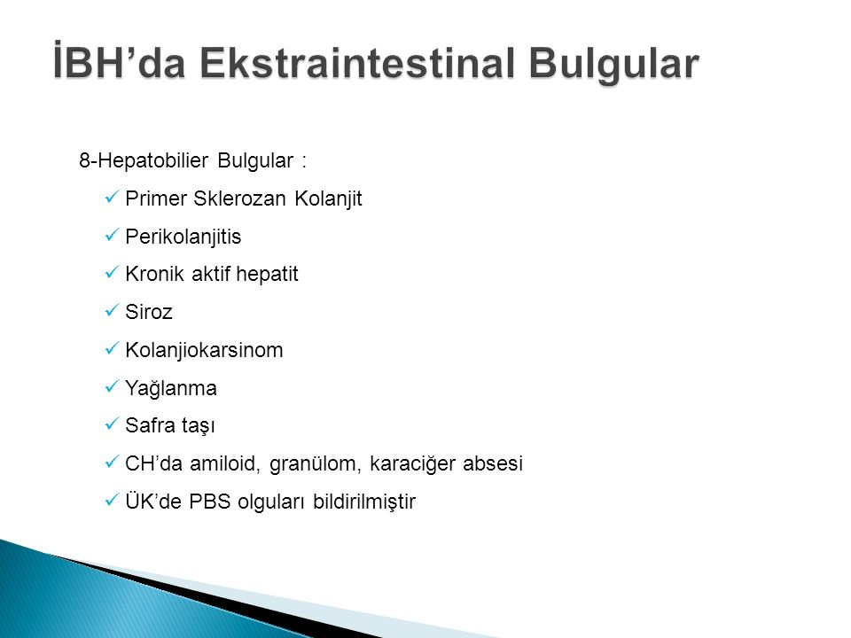 İBH'da Ekstraintestinal Bulgular