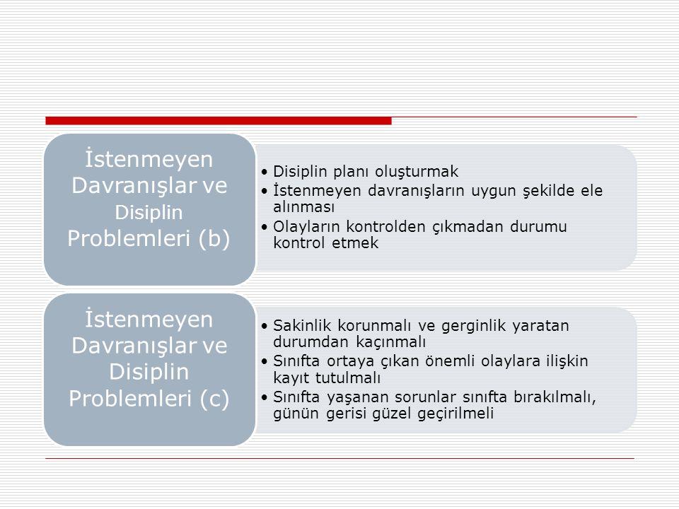 İstenmeyen Davranışlar ve Disiplin Problemleri (b)