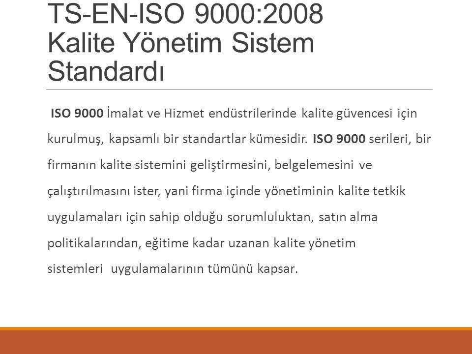 TS-EN-ISO 9000:2008 Kalite Yönetim Sistem Standardı