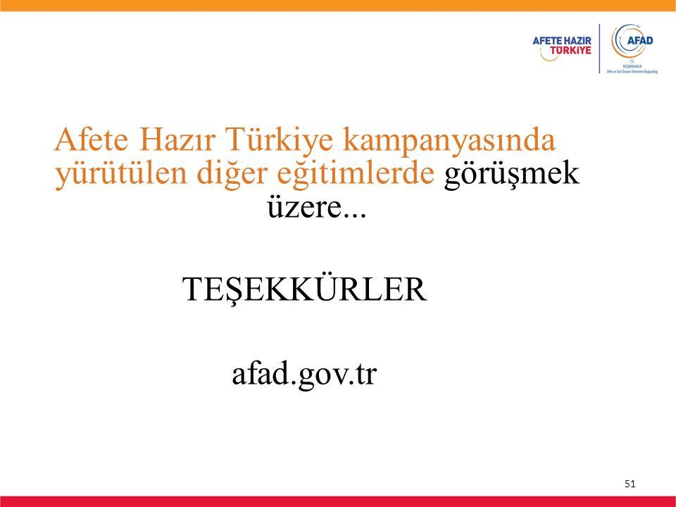Afete Hazır Türkiye kampanyasında yürütülen diğer eğitimlerde görüşmek üzere...