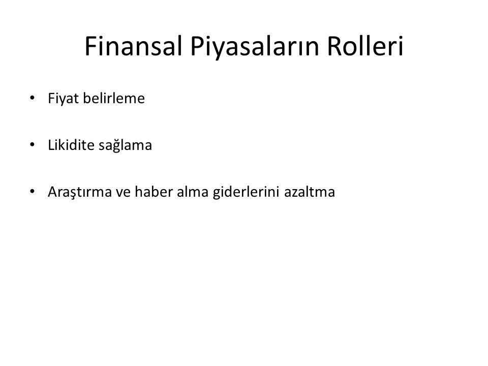 Finansal Piyasaların Rolleri