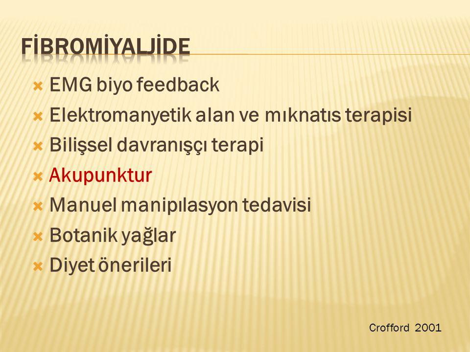FİBROMİYALJİDE EMG biyo feedback