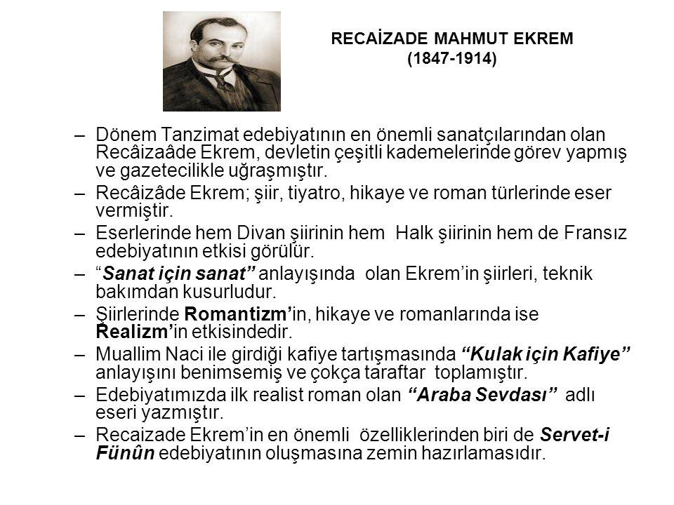 RECAİZADE MAHMUT EKREM