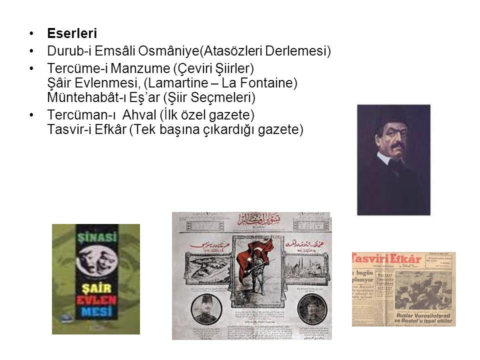 Eserleri Durub-i Emsâli Osmâniye(Atasözleri Derlemesi)