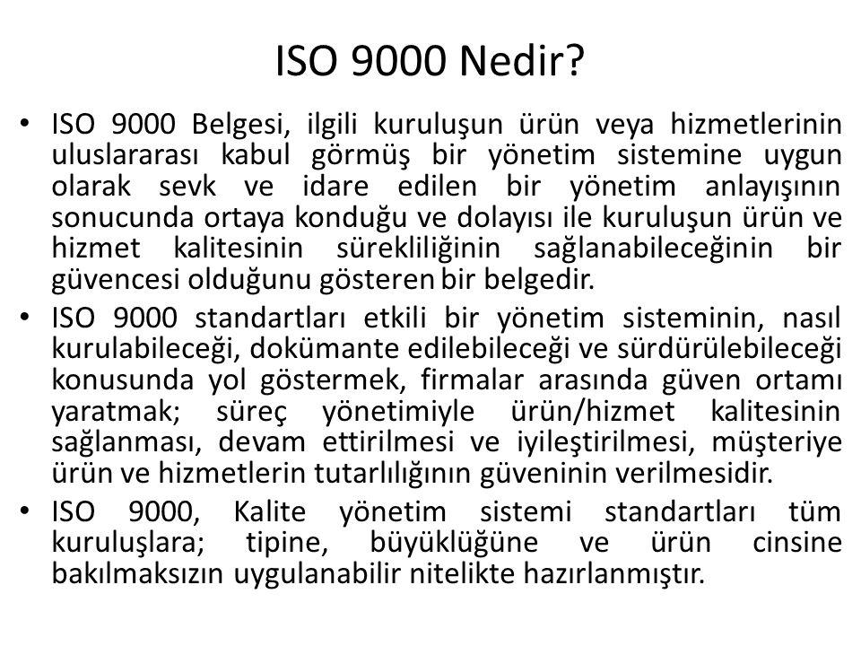 ISO 9000 Nedir