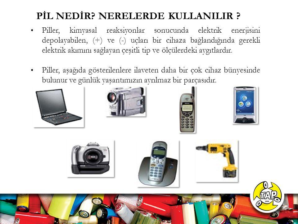 PİL NEDİR NERELERDE KULLANILIR