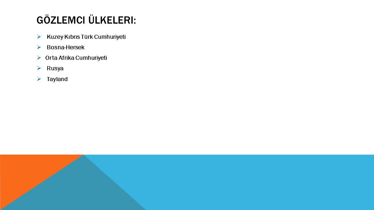 Gözlemci Ülkeleri: Kuzey Kıbrıs Türk Cumhuriyeti Bosna-Hersek