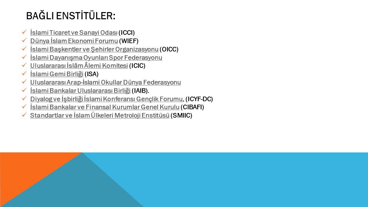 BAĞLI ENSTİTÜLER: İslami Ticaret ve Sanayi Odası (ICCI)