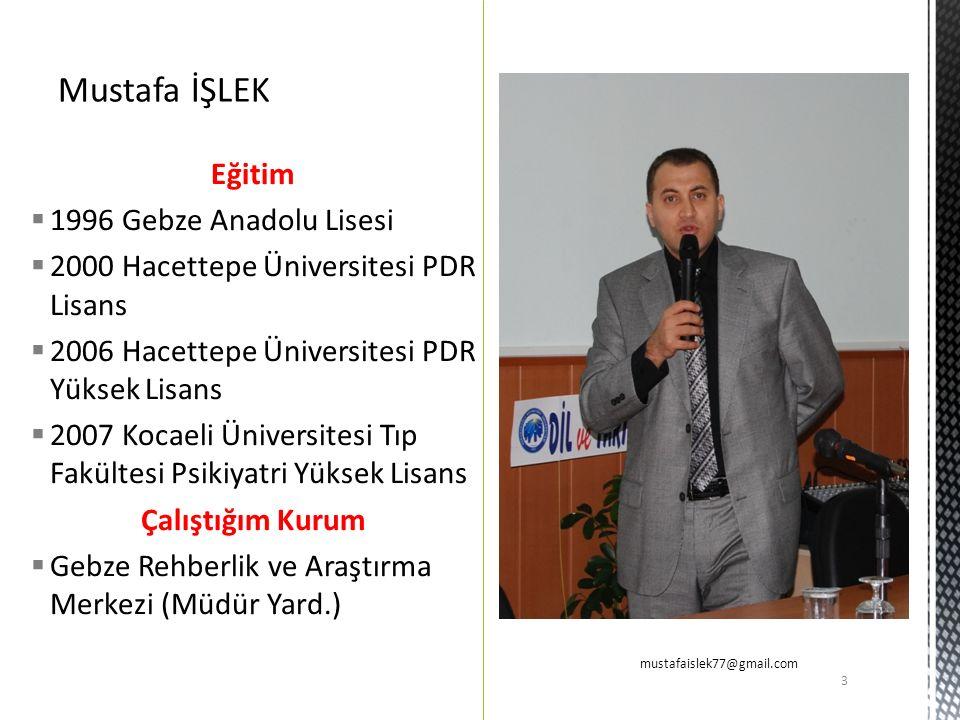 Mustafa İŞLEK Eğitim 1996 Gebze Anadolu Lisesi