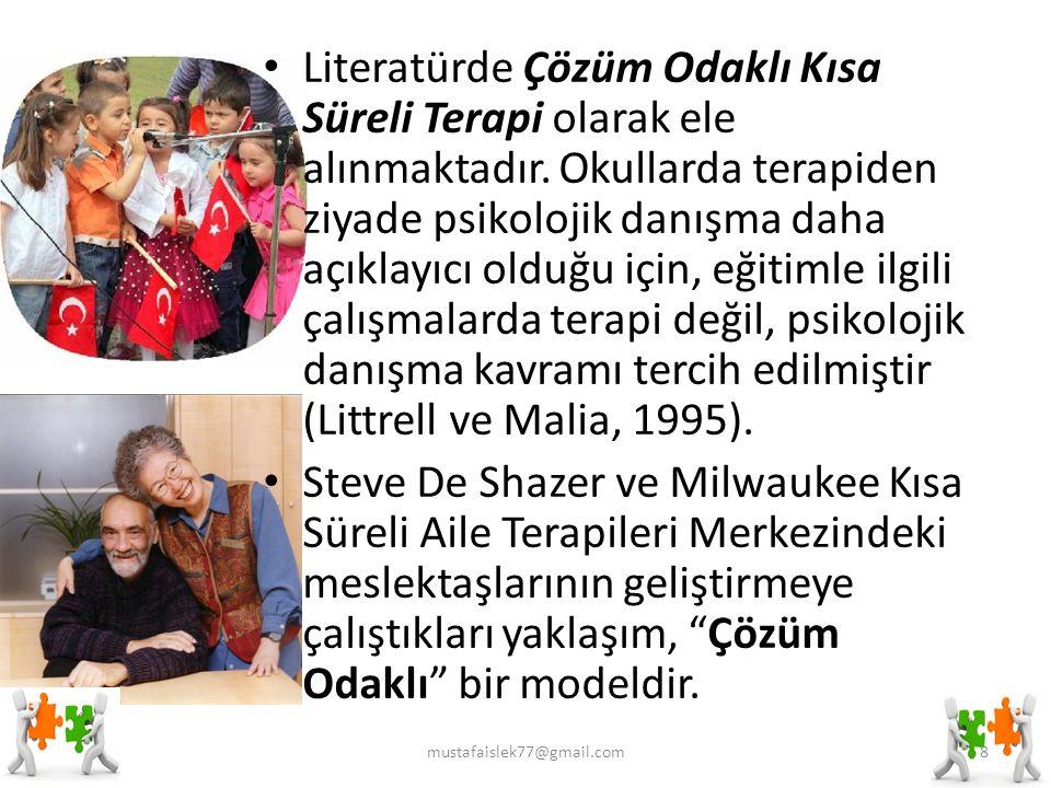 Literatürde Çözüm Odaklı Kısa Süreli Terapi olarak ele alınmaktadır