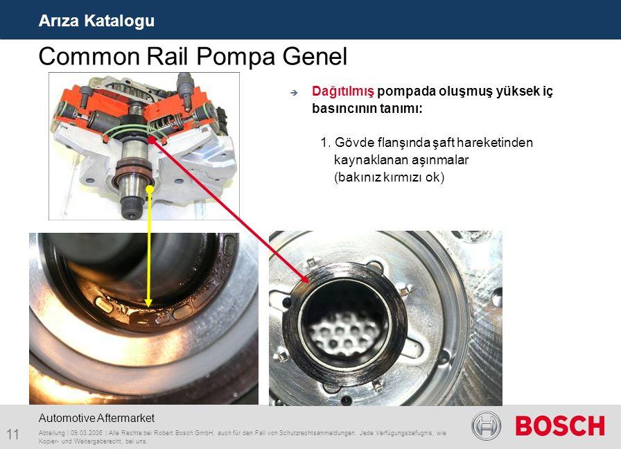 Common Rail Pompa Genel