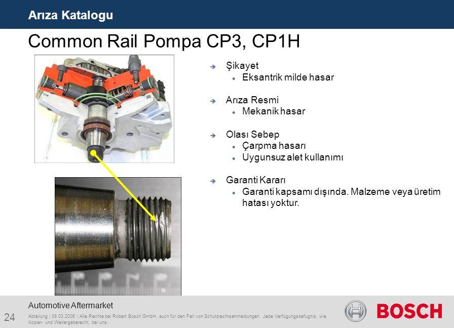 Common Rail Pompa CP3, CP1H