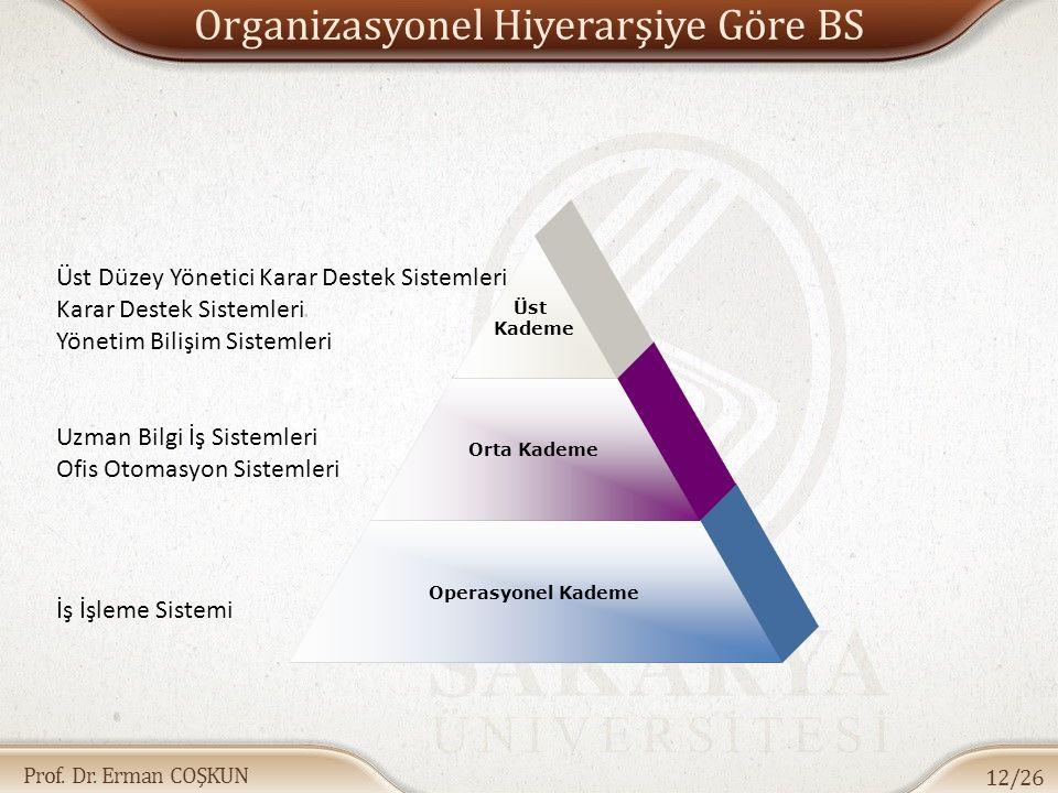 Organizasyonel Hiyerarşiye Göre BS