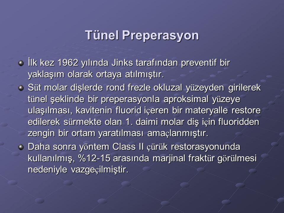 Tünel Preperasyon İlk kez 1962 yılında Jinks tarafından preventif bir yaklaşım olarak ortaya atılmıştır.