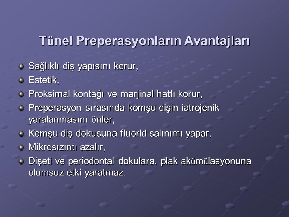 Tünel Preperasyonların Avantajları