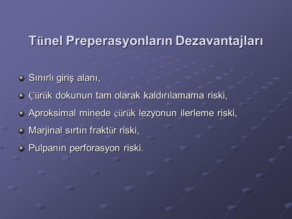 Tünel Preperasyonların Dezavantajları