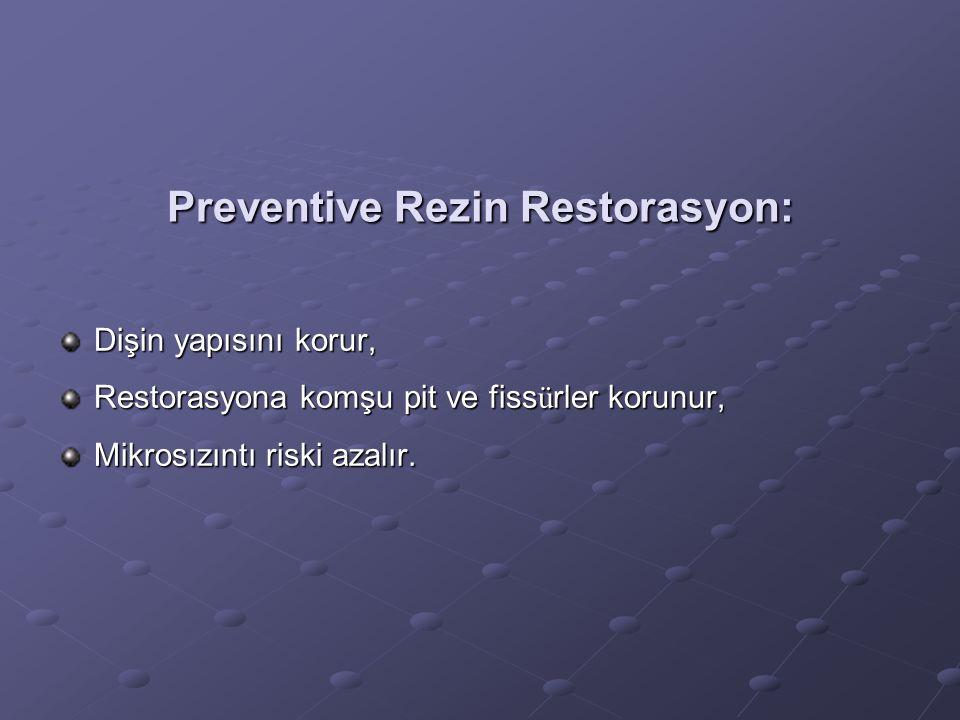 Preventive Rezin Restorasyon: