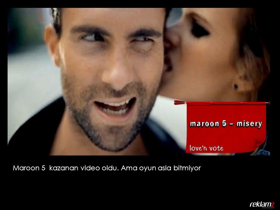 Maroon 5 kazanan video oldu. Ama oyun asla bitmiyor