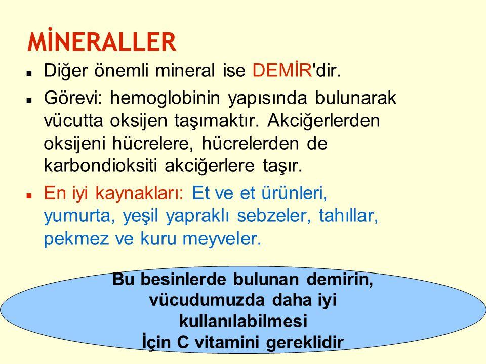 MİNERALLER Diğer önemli mineral ise DEMİR dir.
