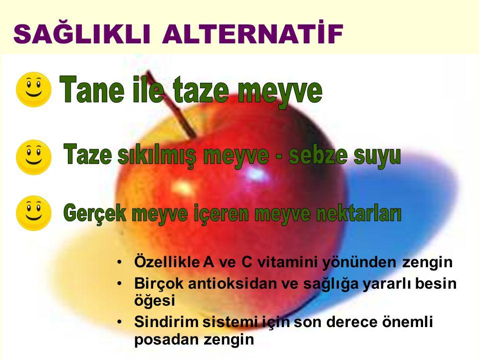 SAĞLIKLI ALTERNATİF Tane ile taze meyve