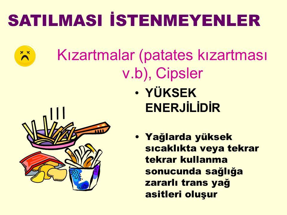 Kızartmalar (patates kızartması v.b), Cipsler