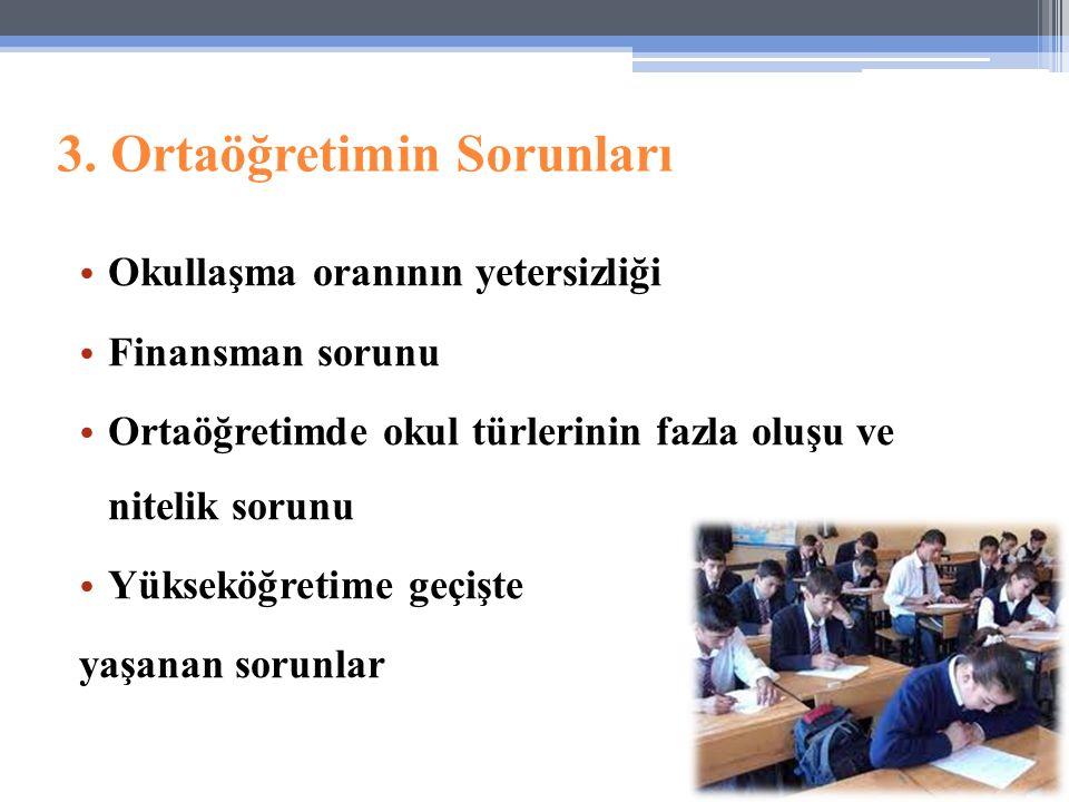 3. Ortaöğretimin Sorunları