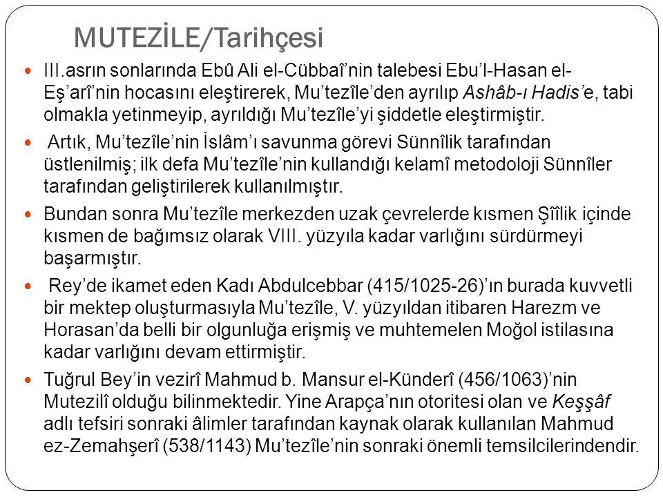 MUTEZİLE/Tarihçesi