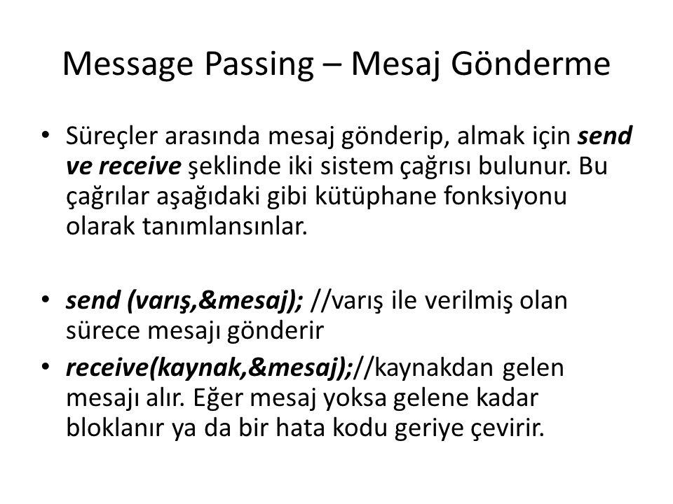 Message Passing – Mesaj Gönderme