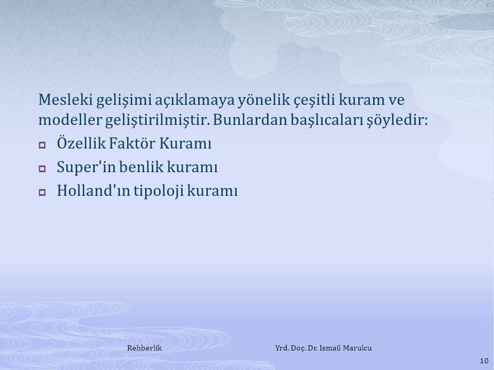 Rehberlik Yrd. Doç. Dr. Ismail Marulcu