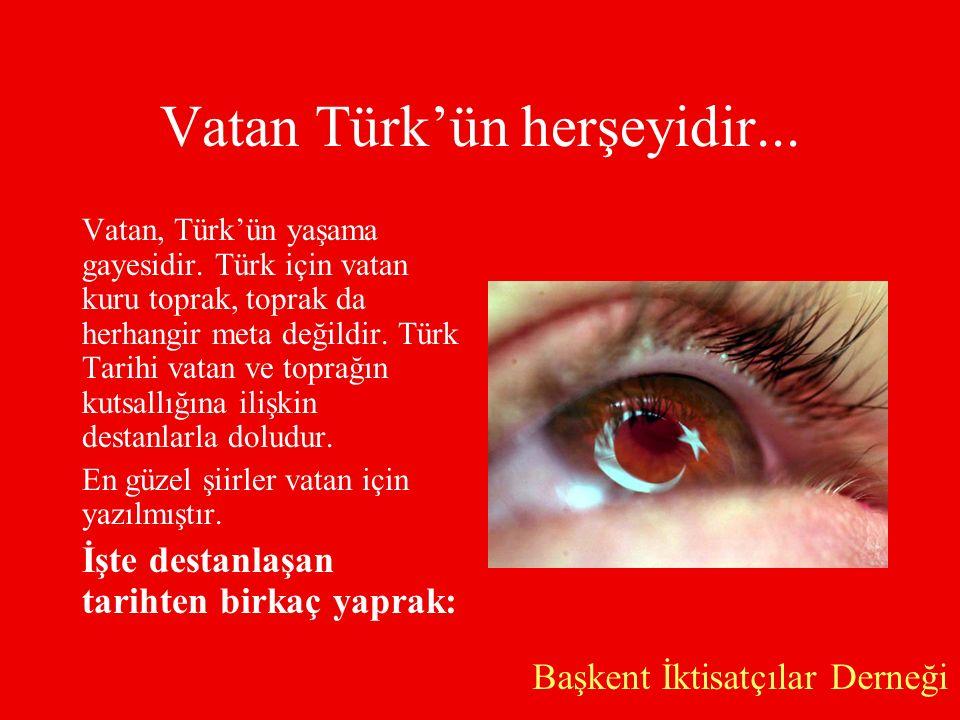 Vatan Türk'ün herşeyidir...