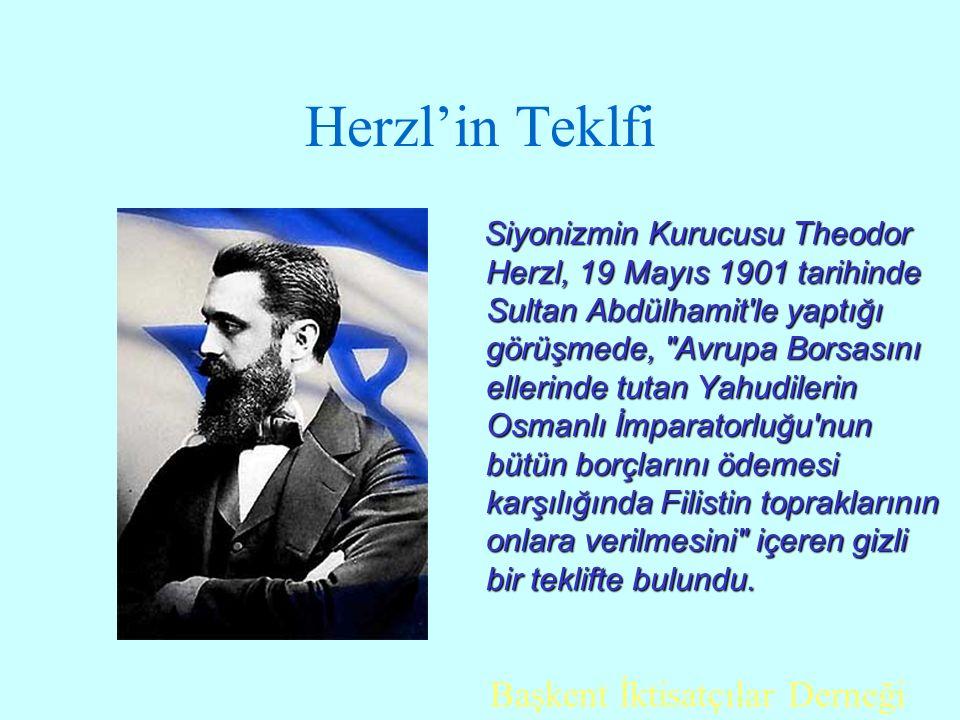 Herzl'in Teklfi Başkent İktisatçılar Derneği