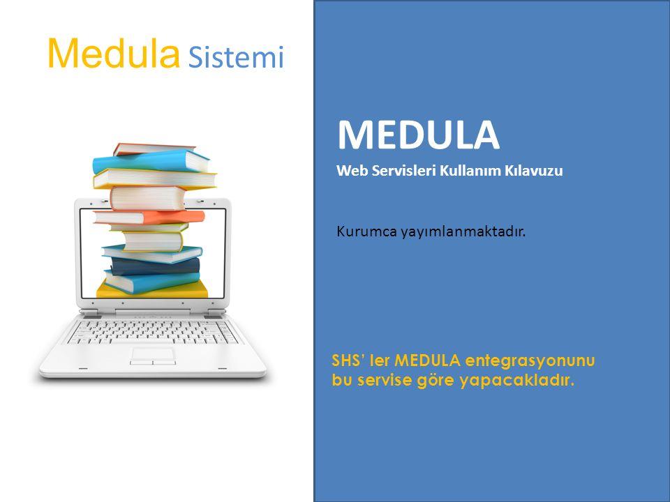 MEDULA Medula Sistemi Web Servisleri Kullanım Kılavuzu