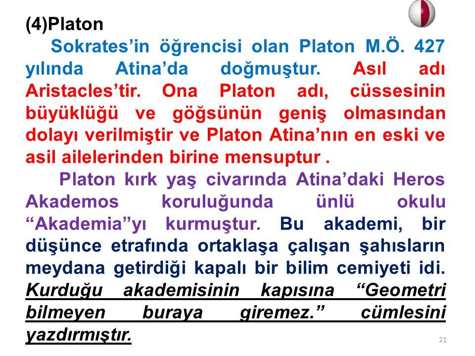 (4)Platon