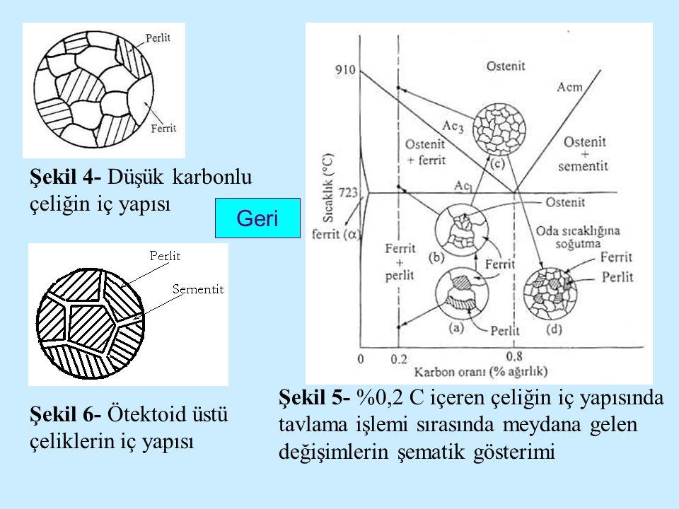 Şekil 4- Düşük karbonlu çeliğin iç yapısı