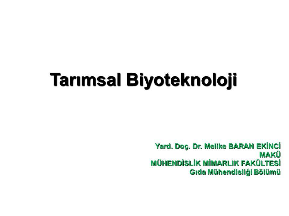Tarımsal Biyoteknoloji