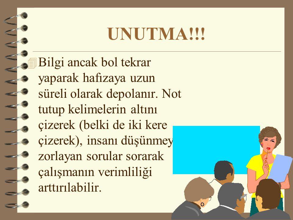 UNUTMA!!!