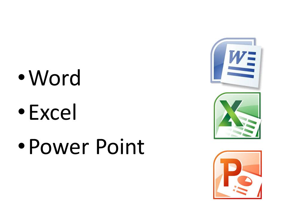 Word Excel Power Point