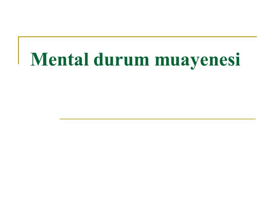 Mental durum muayenesi
