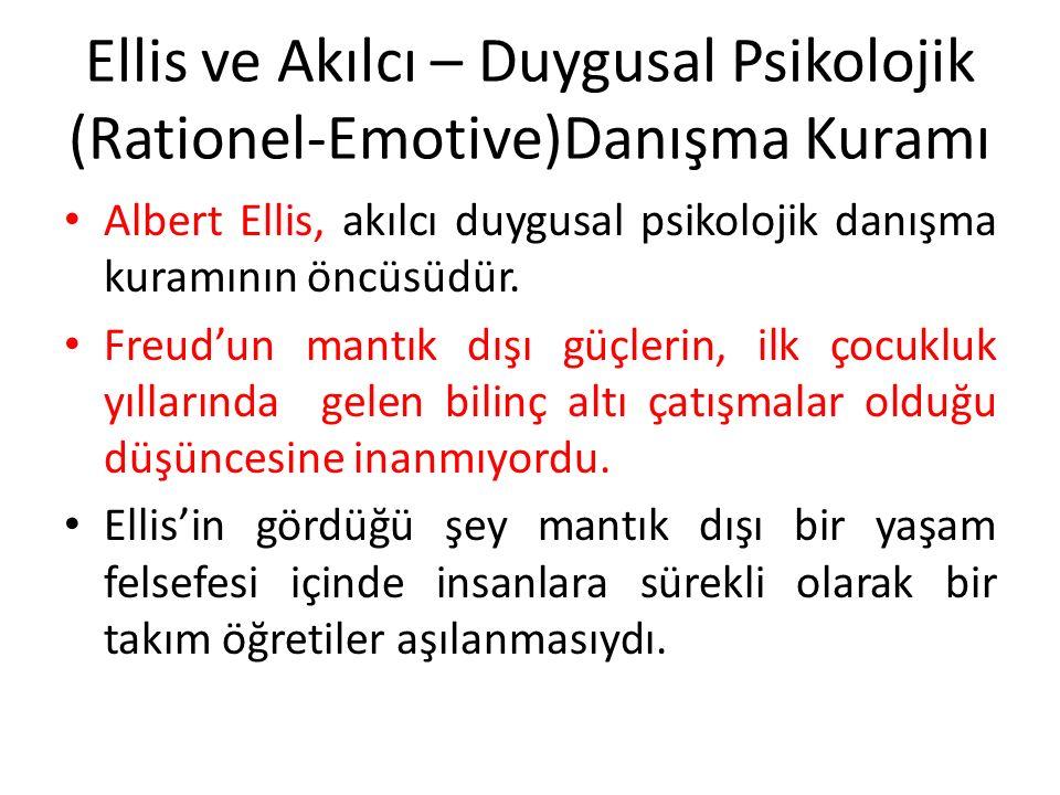Ellis ve Akılcı – Duygusal Psikolojik (Rationel-Emotive)Danışma Kuramı