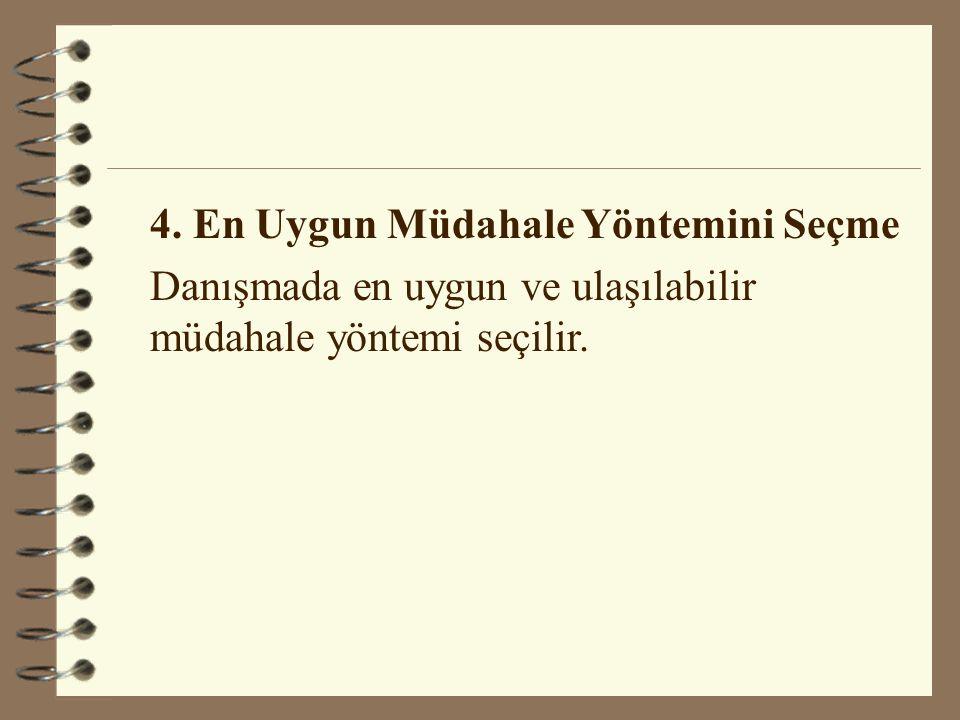 4. En Uygun Müdahale Yöntemini Seçme