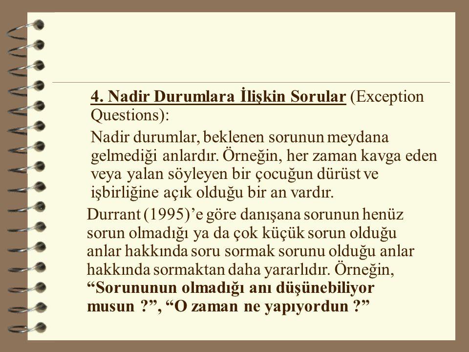 4. Nadir Durumlara İlişkin Sorular (Exception Questions):