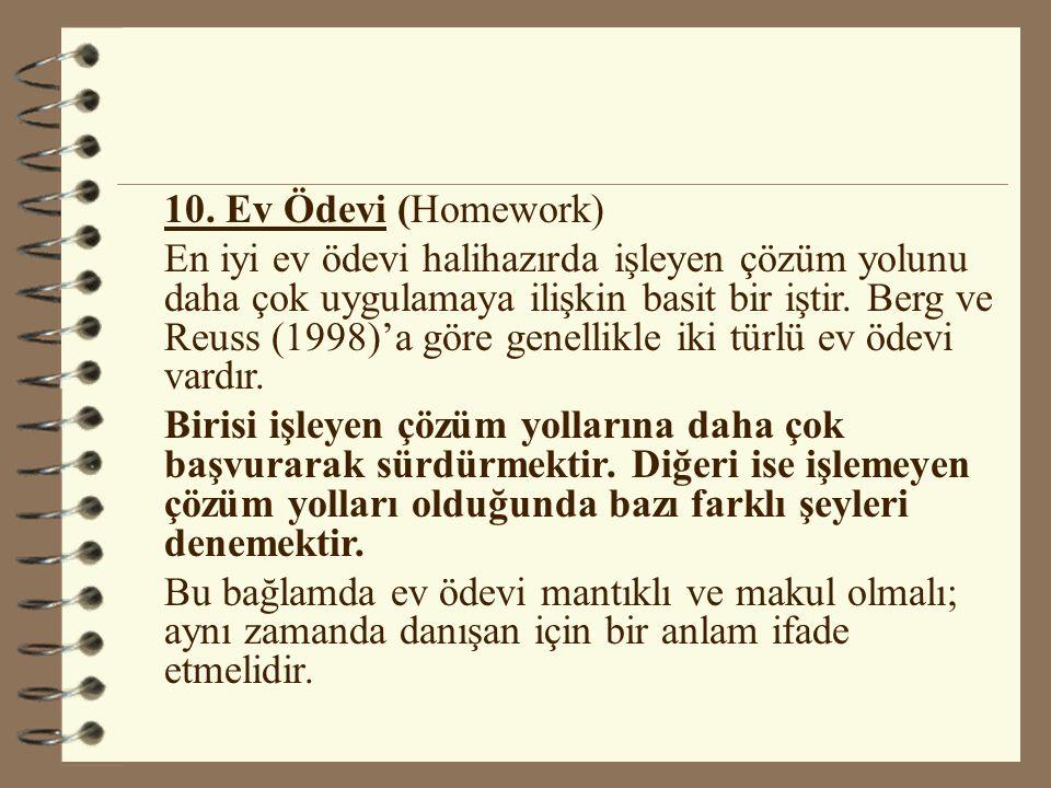 10. Ev Ödevi (Homework)