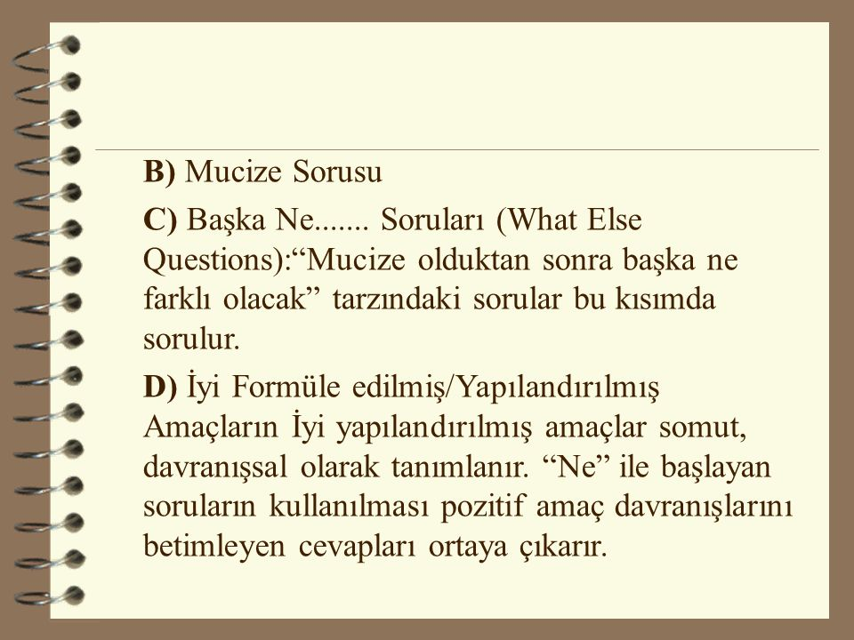 B) Mucize Sorusu