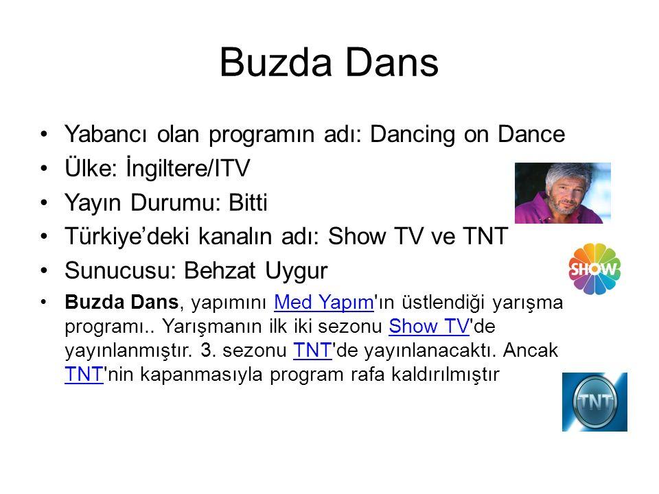 Buzda Dans Yabancı olan programın adı: Dancing on Dance